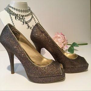 Steve Madden sparkle heels, size 7.5 Style P-KELLE